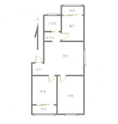 (任城区)齐鑫花园2室2厅1卫98.9m²