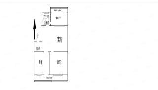 (任城区)常青新村居民宿舍2室1厅1卫1200元/月66m²出租